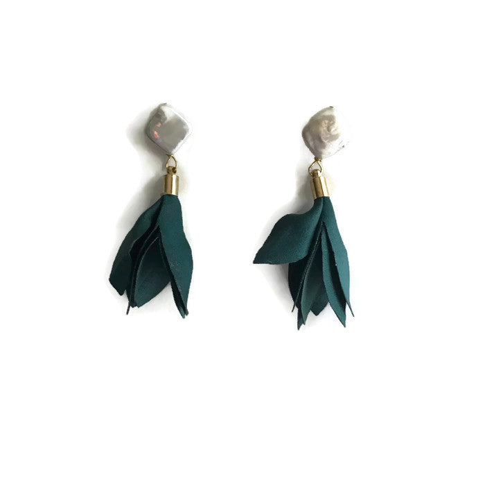 Tulip Blossoms - Dark Green