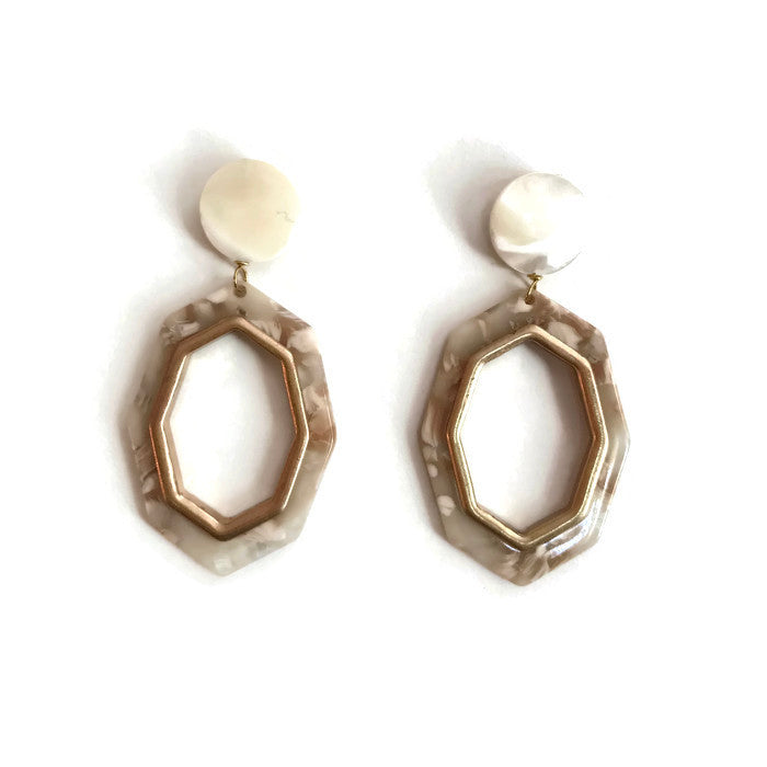 Gigi Earrings - Ivory