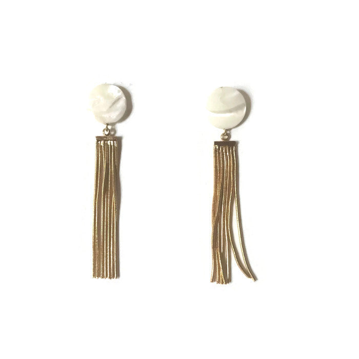 Mother of Pearl + Gold Tassel