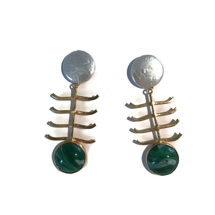 Green Pescado Earrings