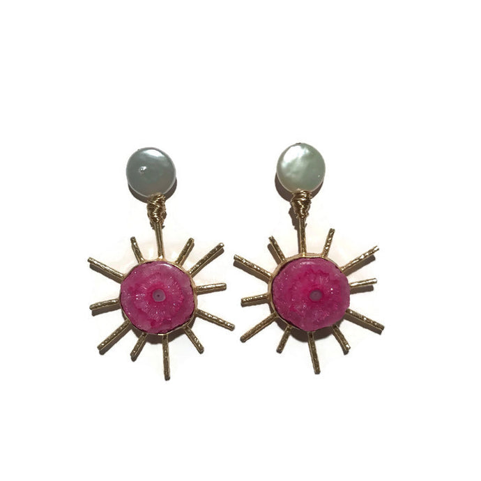 Sol Earrings - Pink