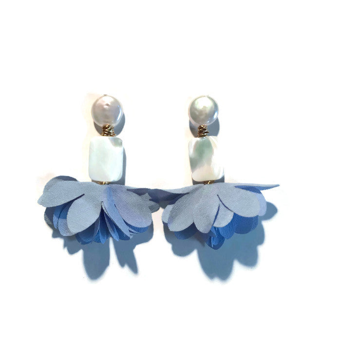 Pearl & Mother of Pearl Primrose Earrings