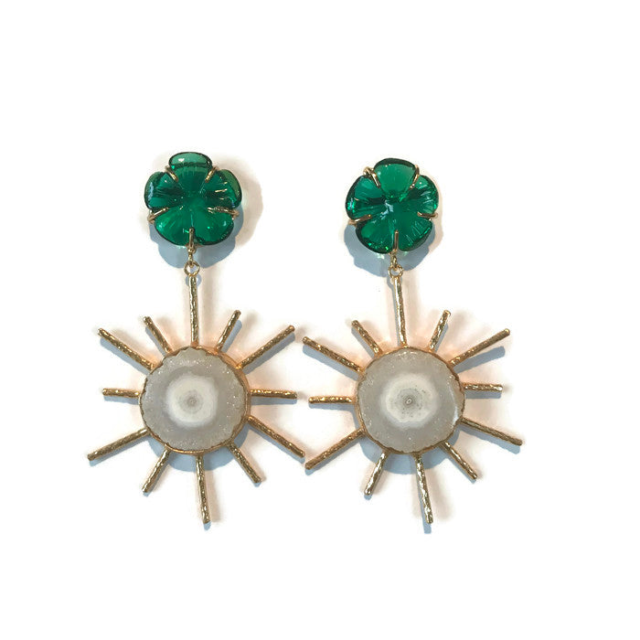 Sol Earrings - Flora