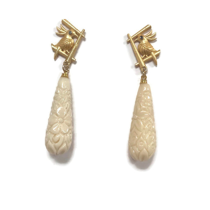 Ivory statement Cass Dickson earrings