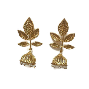 Gold Pearl Statement Cass Dickson Earrings