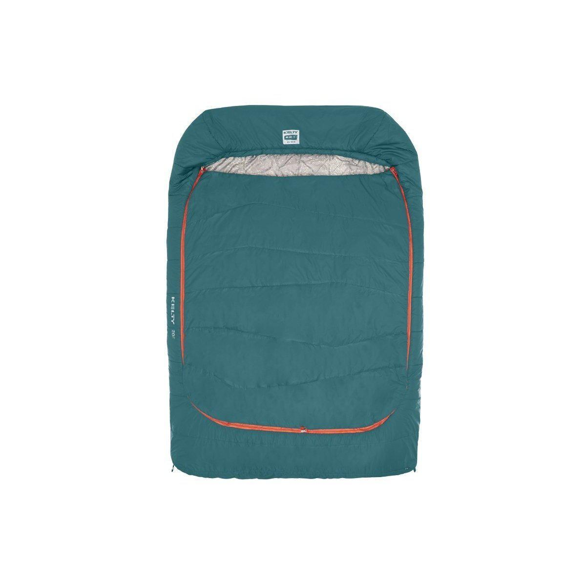 Kelty Tru Comfort Double Wide 20F Sleeping Bag-Sleeping Bag-Kelty-Teal-GetOutland.com