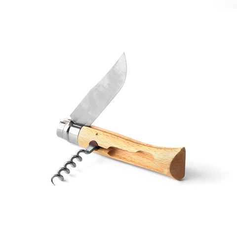 Opinel No10 Corkscrew Wine & Cheese Knife
