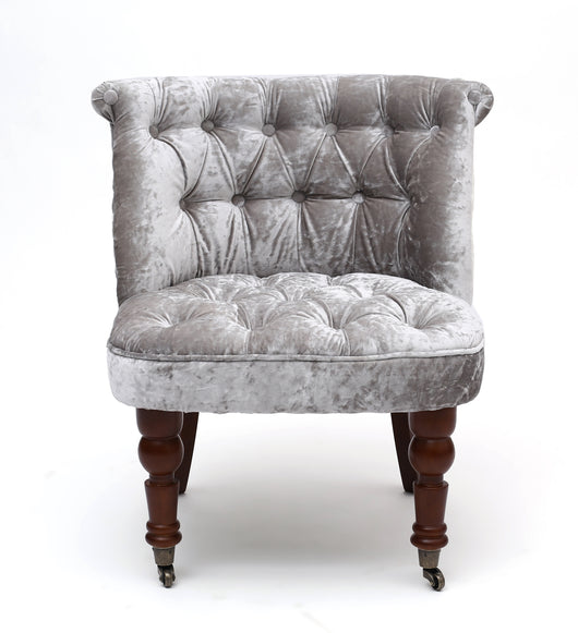 Crushed Velvet Bedroom Chair Black Or Silver Relicstore