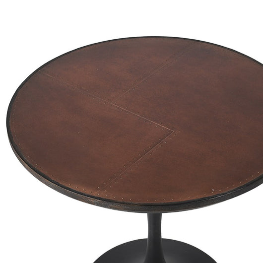 Round Antique Copper Top Table With Oak Base Relicstore