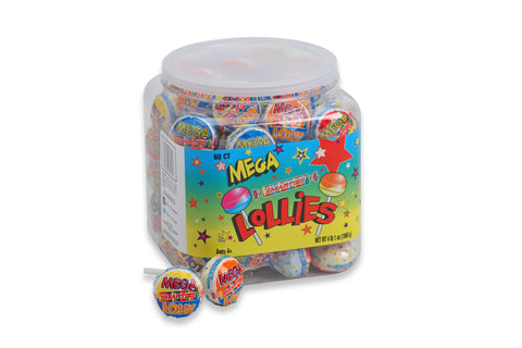 Smarties<sup>®</sup> Mega Lollies <span>in a jar, 60 individually wrapped lollies per jar, case of 6 jars</span>