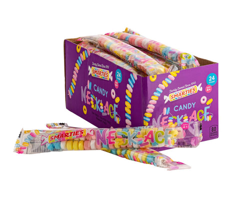 Candy Necklaces in a box, 24 individually wrapped necklaces per box, case of 18 boxes