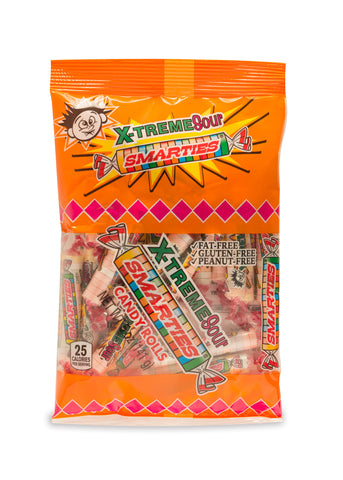 X-treme Sour Smarties<sup>®</sup> <span>in a 5 ounce bag, case of 12 bags</span>