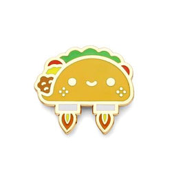 100% Soft / Space Taco Enamel Pin