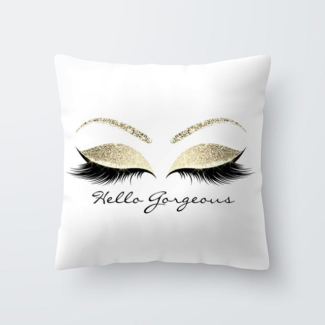 Eyelash Decorative Throw Pillow Cushion Cover - clishea.co