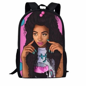 Afro Hair School Bags - clishea.co