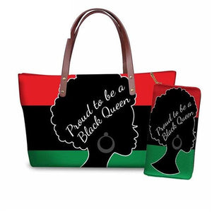 Afro Hair Influenced Designer Handbag & Wallet Set - clishea.co
