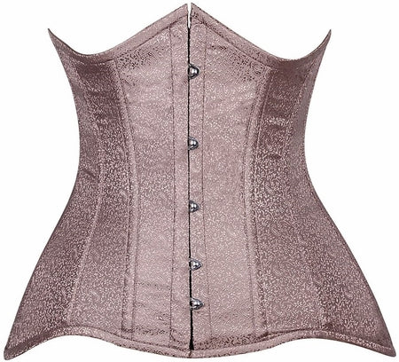 Lavish Curvy Grey Brocade Under Bust Corset