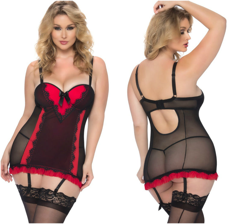 Molded Cup Chemise & G-String