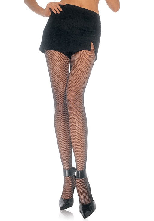 Nylon Fishnet Pantyhose, Black