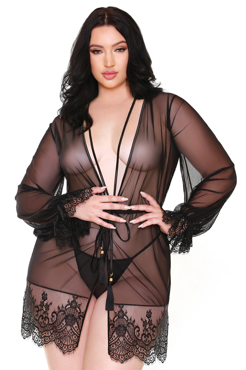 Helena Lace Robe and G-string