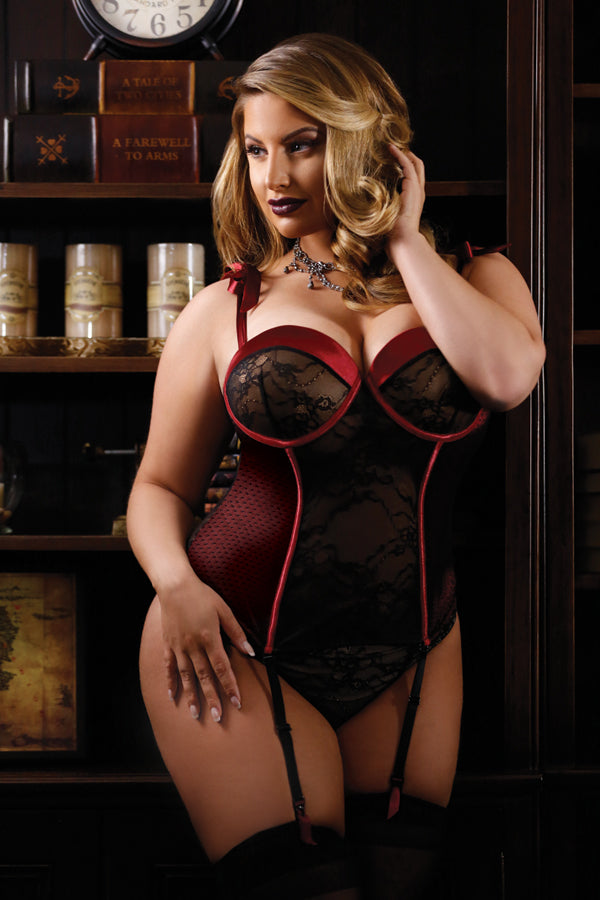 Rita Bustier with Shoulder Ties, Detachable Garters & Panty