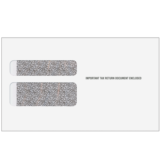 W-2 Two-Wide Double Window Envelope