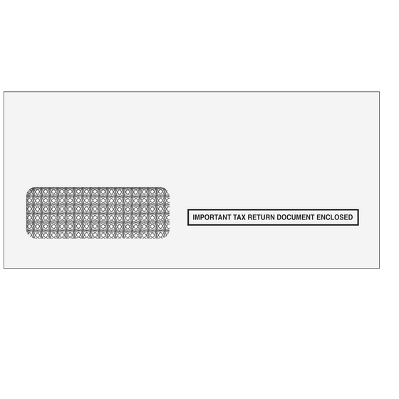 1099 3up Single Window Envelope