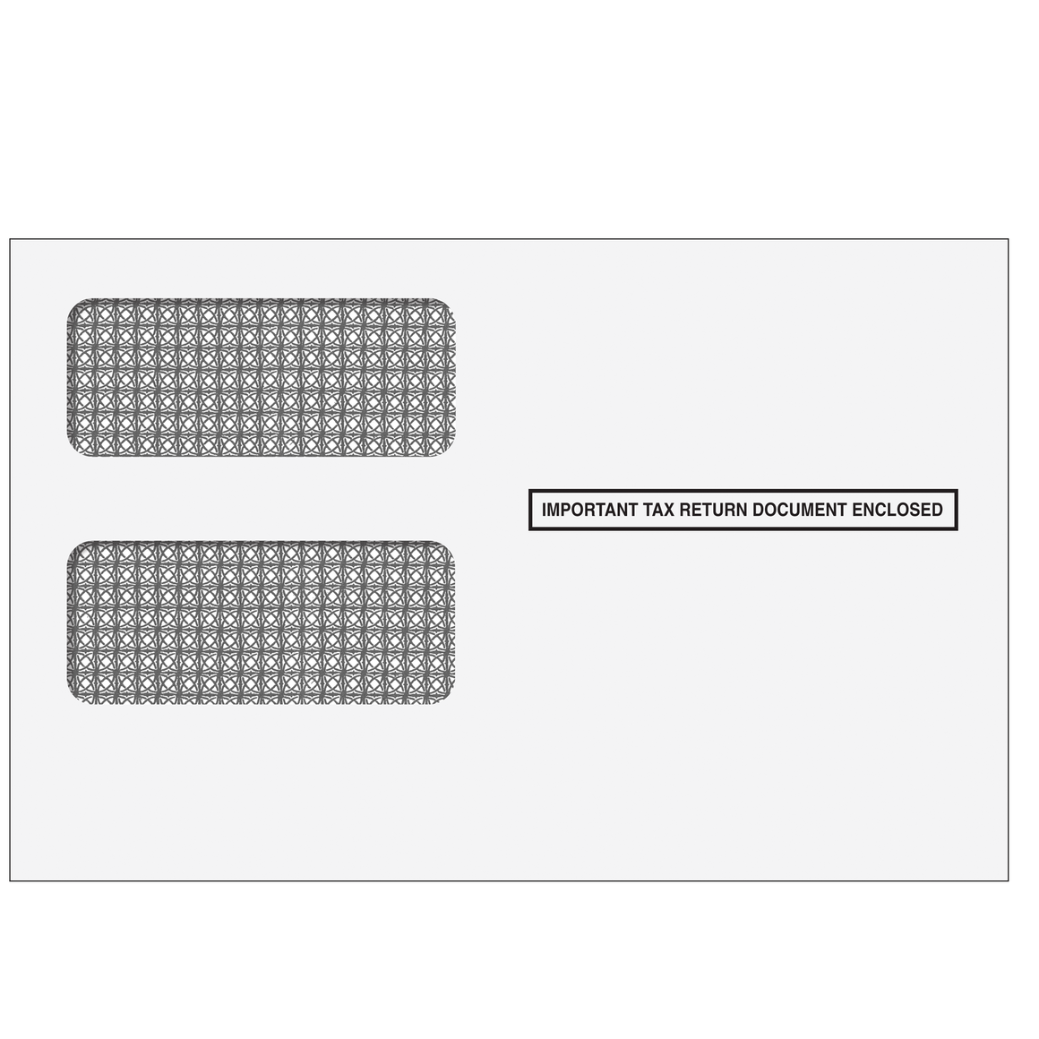 1099 2up Double Window Envelope