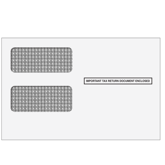 1099 2up Self-Seal Double Window Envelope