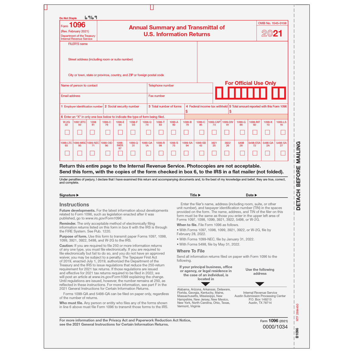 1096 transmittal forms tax form depot 1096 transmittal form falaconquin