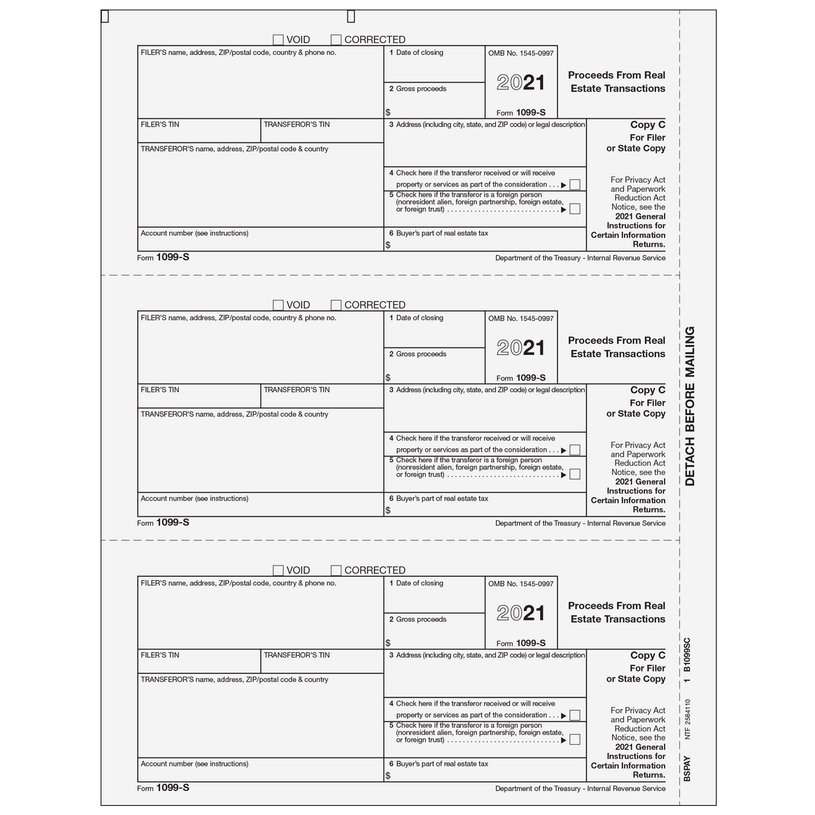 1099 preprinted laser forms tagged 1099 s proceeds from real 1099 s filer or state copy c falaconquin