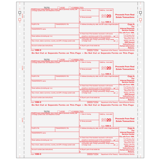 1099 Continuous Forms Tax Form Depot