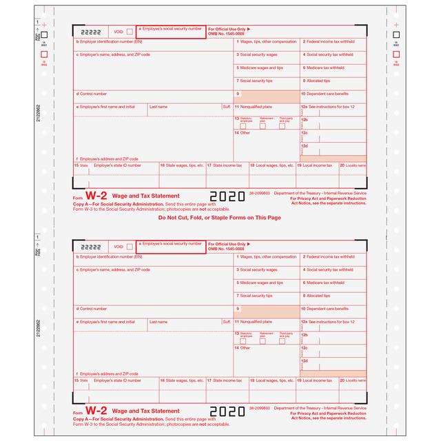 W-2 Twin-Set - 3pt - Employer Version