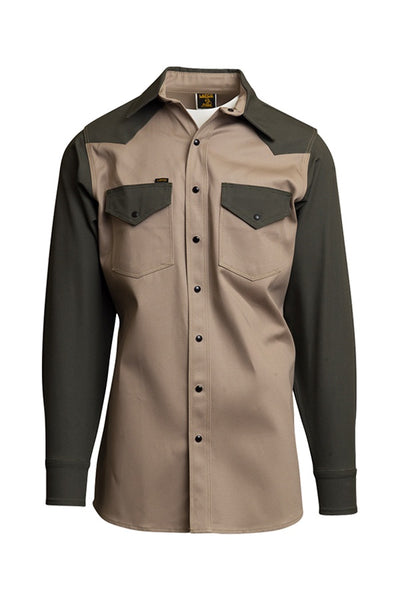 KG - 10oz. Non-FR Heavy-Duty Two-Tone Welding Shirts