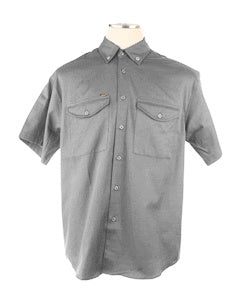 V600GRY - 6.25oz. Vented Non-FR Short Sleeve Work Shirts