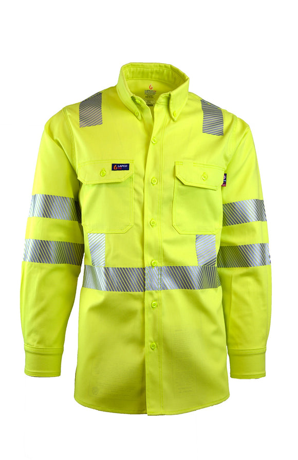IHV7C3- 7oz. FR Uniform Shirts | Hi-Viz Class 3