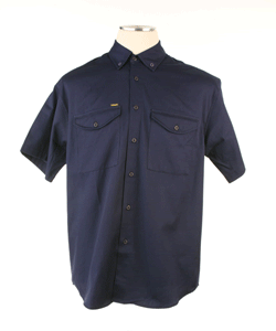 V600NVY - 6.25oz. Vented Non-FR Short Sleeve Work Shirts