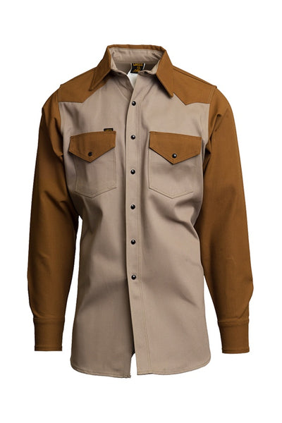 KB - 10oz. Non-FR Heavy-Duty Two-Tone Welding Shirts