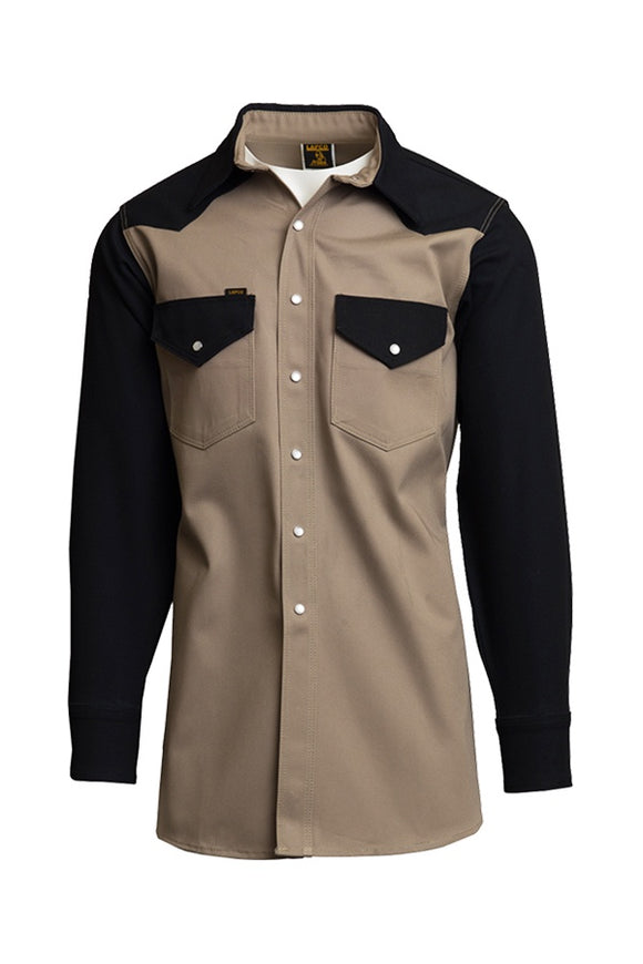 KBLK- 10oz. Non-FR Heavy-Duty Two-Tone Welding Shirts