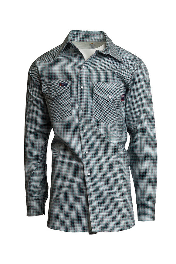 IAU7WS- 7oz. FR Western Plaid Shirts - Austin