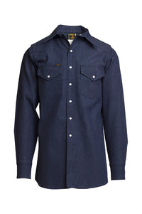 DS- 10oz. Non-FR Heavy Duty Welding Shirt - Denim