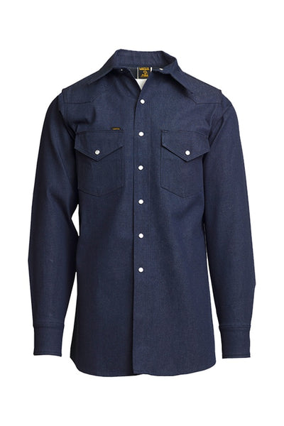 DS - 10oz. Non-FR Heavy Duty Welding Shirt - Denim