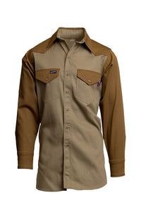 IKB7- 7oz. FR Two-Tone Western Shirts