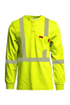 FRT-HJE-HV2 - Hi-Viz FR Henley Shirts | Reflective Clothing | 7oz. Inherent Blend | Class 2