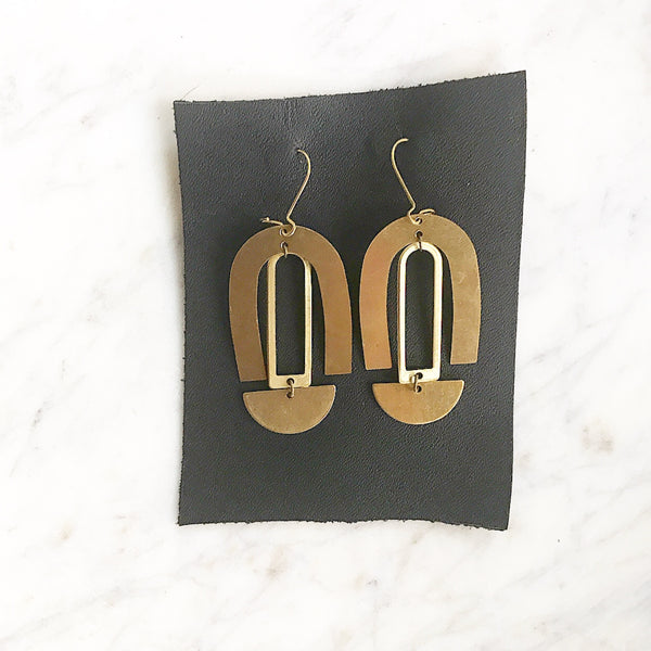 La Hermosa- Brass Statement Earrings- Bohemia