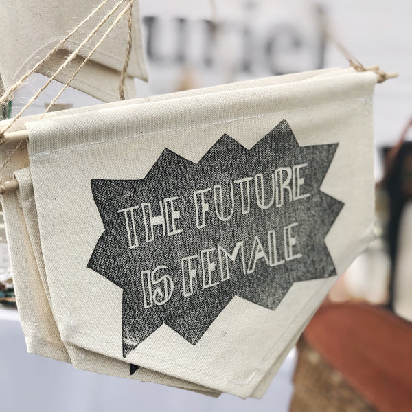 The Future is Female banner