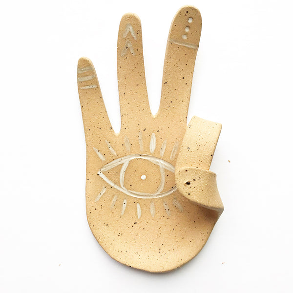 Hamsa Hand Incense Holder Dish