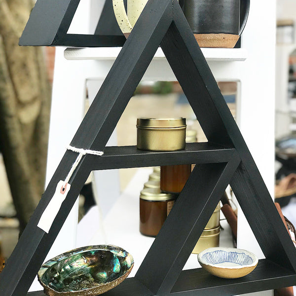 Matte Black Triangle Shelves