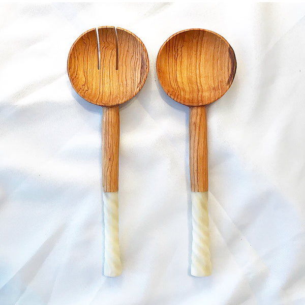 Olive Wood Salad Server (Pair)