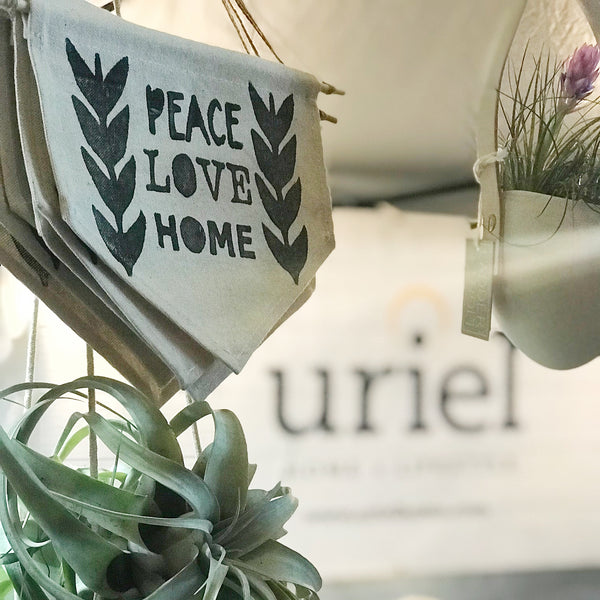 Peace, Love , Home Banner